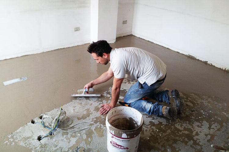 Rifacimento pavimenti per il Credito Valtellinese a Monza