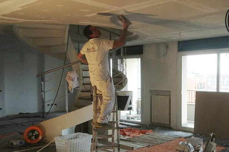 Abbassamento soffitto cartongesso provincia di Milano