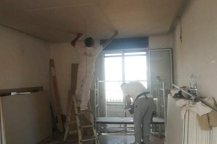 Abbassamento soffitto in cartongesso Milano