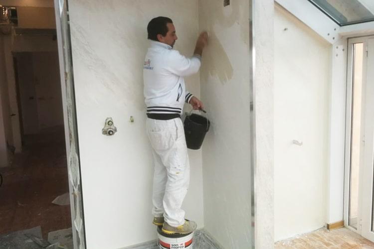 Ristrutturazione bagno parete doccia